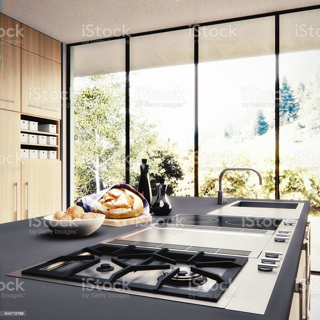 Modern Kitchen 3D render – Foto