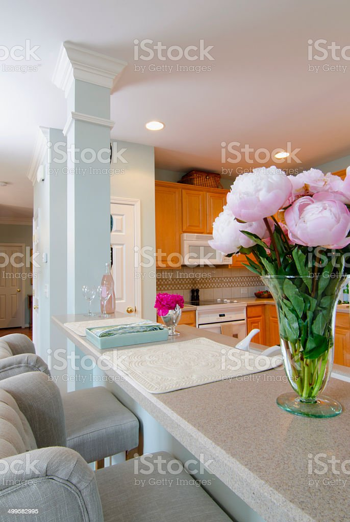 Modern Kitchen and Bar royalty-free stock photo