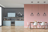 istock Modern kitchen and dining room stock photo 1251951964