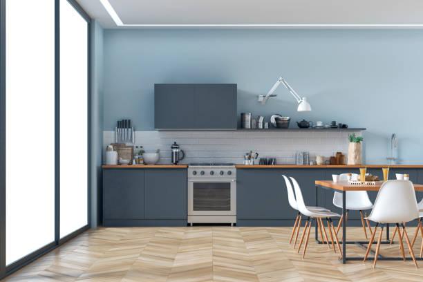 현대 주방 및 식당 스톡 사진 - 모던 양식 뉴스 사진 이미지