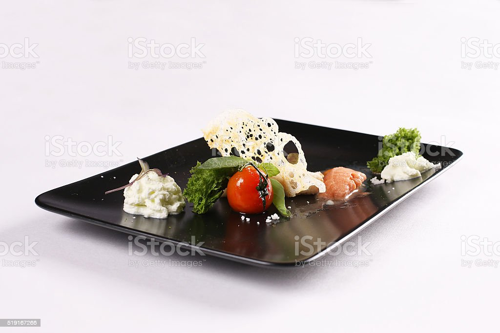 modern kitchen and food stock photo