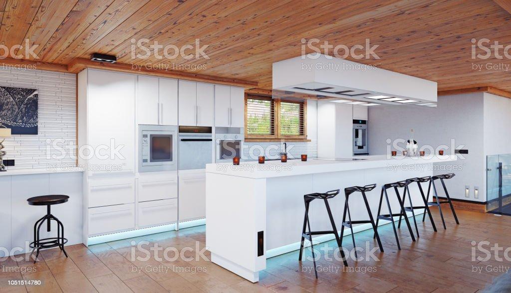 Moderne Küche Chalet Interieur Stockfoto und mehr Bilder von ...