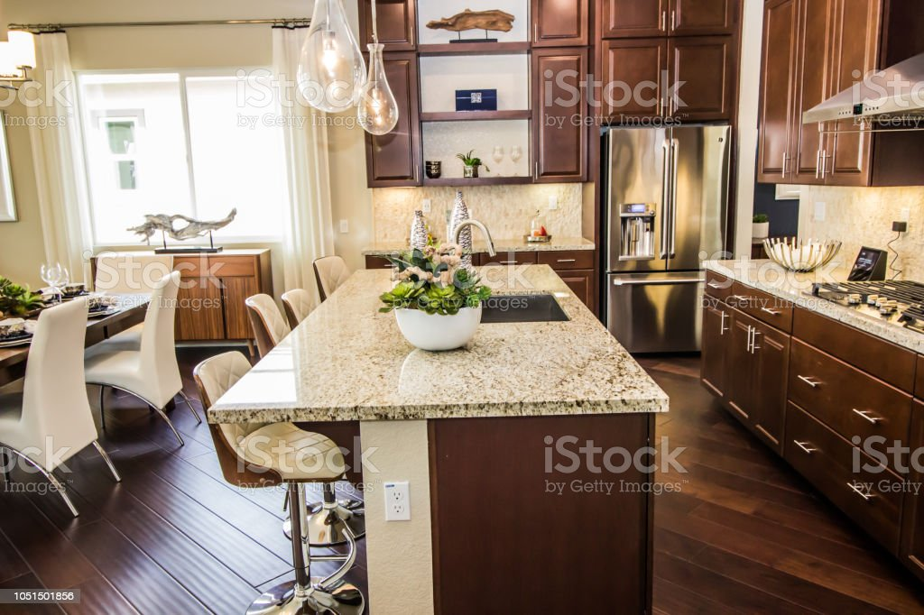 Modern Kitchen Counter Bar Stock Photo Download Image Now Istock