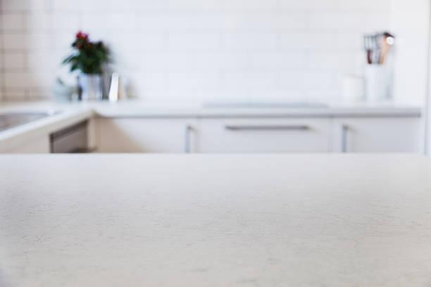 Moderna cocina contador - foto de stock