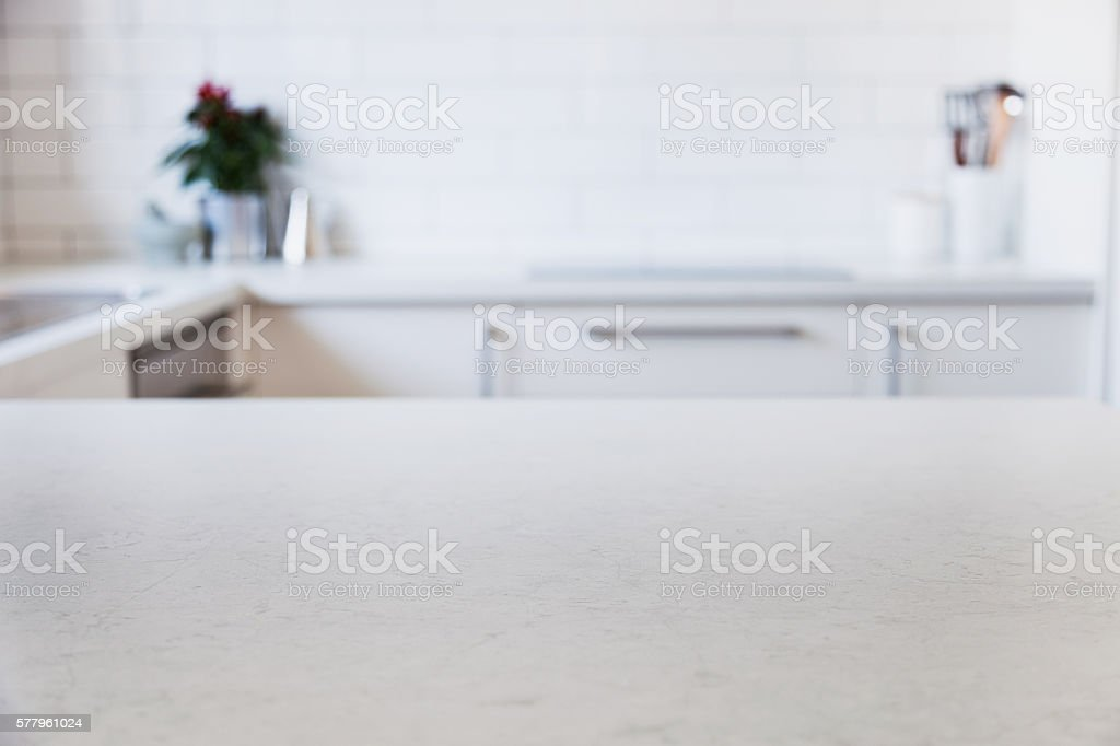 Modern Kitchen Counter Stock Photo