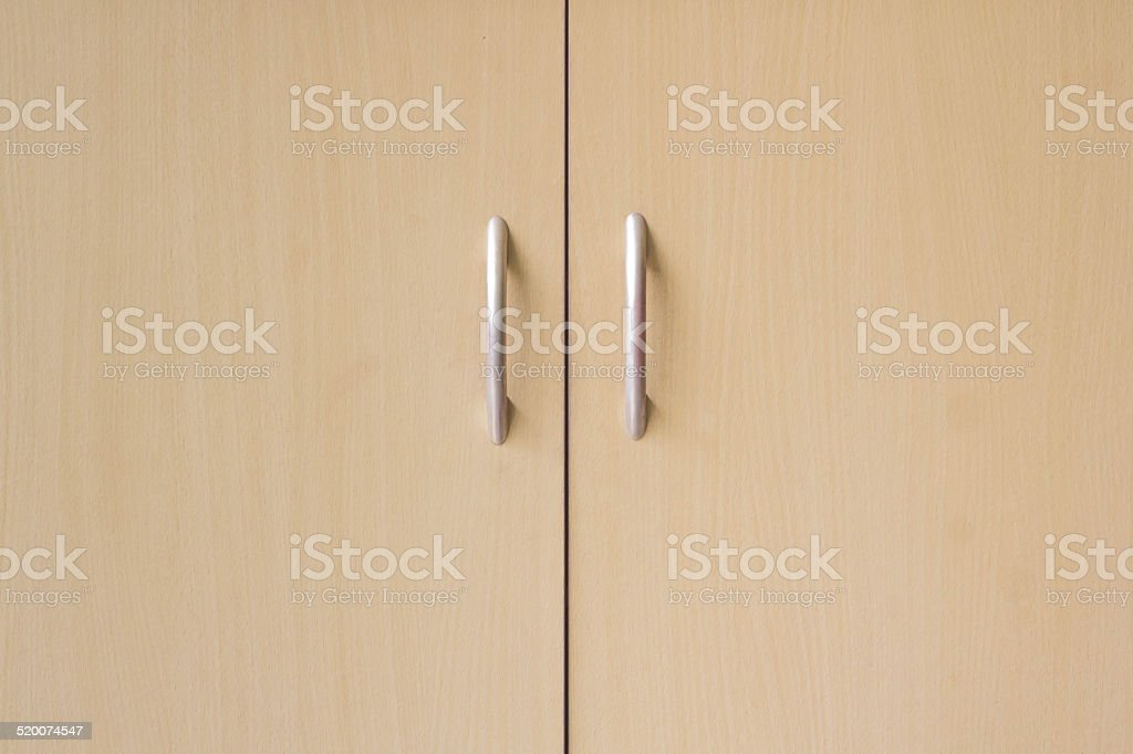 Modern kitchen cupboard doors stock photo