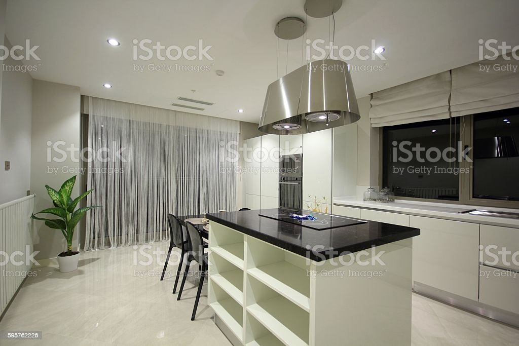 Modern Kitchen Design stock photo