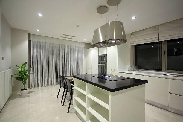 cozinha moderna de design - porcelana - fotografias e filmes do acervo