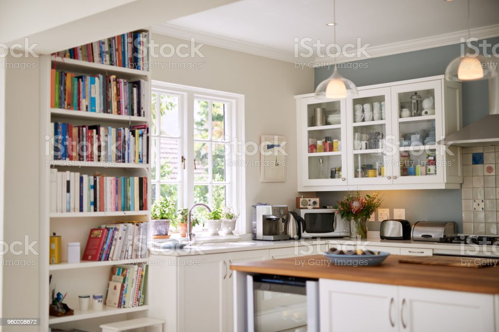 Modern kitchen for modern living stock photo