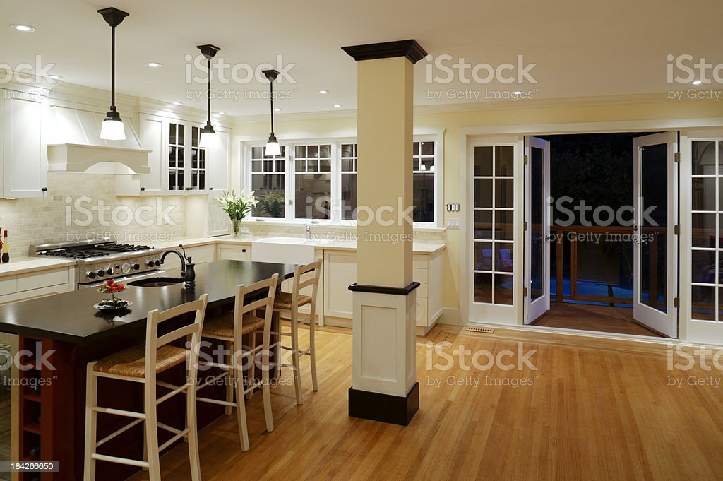 modern kitchen home interior stock photo