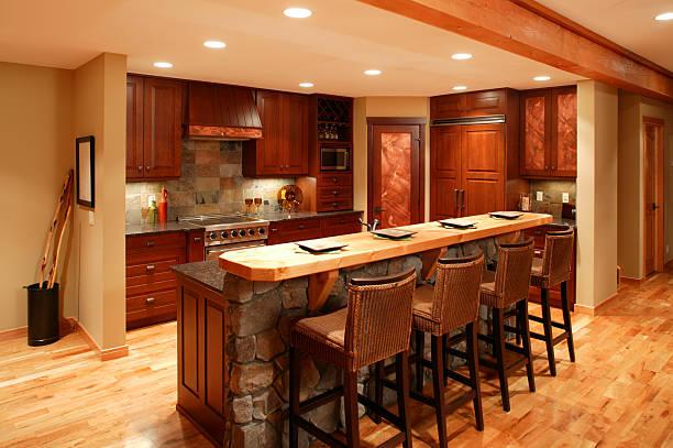 moderne küche home interior - landhausstil küche stock-fotos und bilder