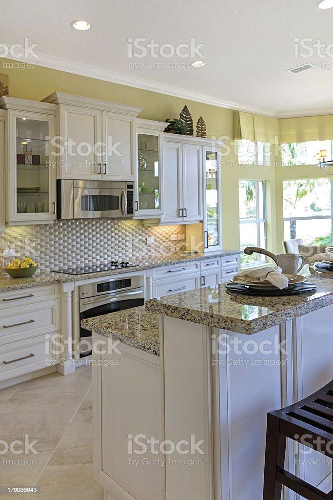 Modern kitchen house interior royalty-free stock photo