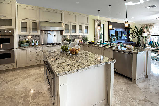 Modern kitchen house interior Beautiful Modern kitchen with a counter height barArchitecture: granite rock stock pictures, royalty-free photos & images