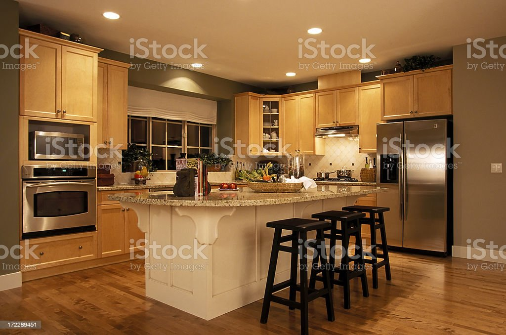 modern kitchen house interior royalty-free stock photo