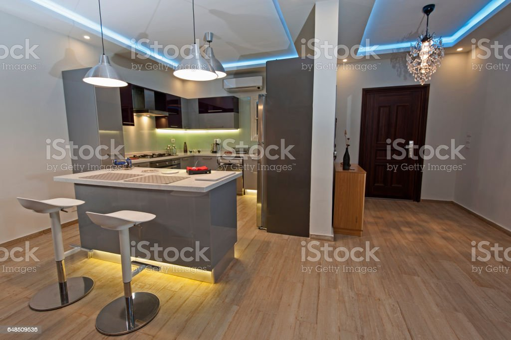 Modern Kitchen In A Luxury Apartment Stock Photo Download Image Now Istock