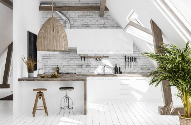 Modern kitchen in attic scandiboho style picture id1002283558?b=1&k=6&m=1002283558&s=612x612&w=0&h=w9emsvyltzffedydnony4hp2xv7yjwb 4osm2ep7fc4=