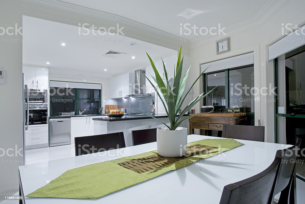 Modern kitchen in luxury mansion royalty-free stock photo