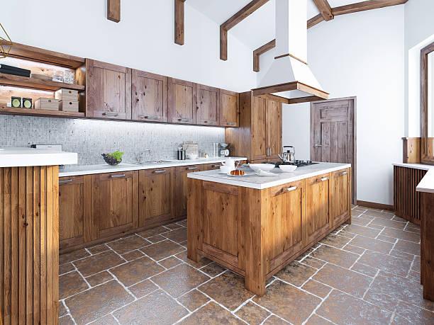 modern kitchen in the loft style. - kochinsel stock-fotos und bilder