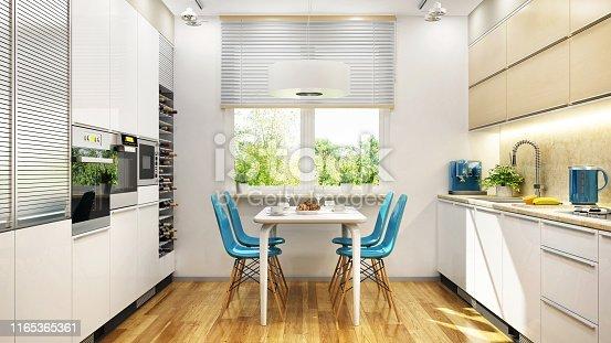 istock Modern kitchen interior design 1165365361