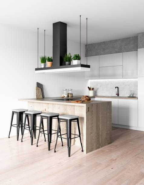 modern kitchen interior - nelleg stock photos and pictures