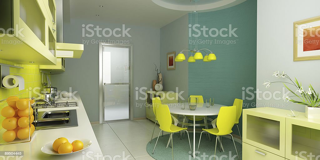 modern kitchen interior royalty-free stock photo