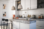 istock Modern kitchen interior stock photo 1287452380