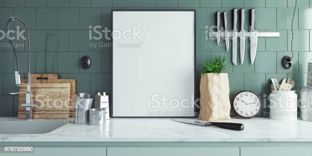 Modern kitchen interior with empty banner mock up picture id976763990?b=1&k=6&m=976763990&s=612x612&h=68hcdrbgji fupd5nnhllkaf5smv cd1htshynk9ifu=