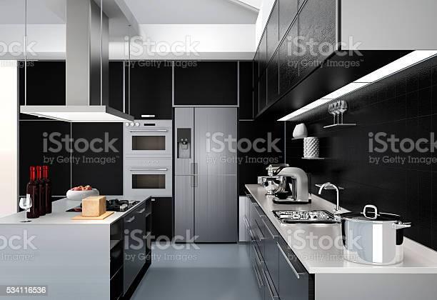 Modern kitchen interior with smart appliances in black color picture id534116536?b=1&k=6&m=534116536&s=612x612&h=wib6vvzf sfshxnz9ujczcalq6p4 xo4t7ifrhoiuh0=
