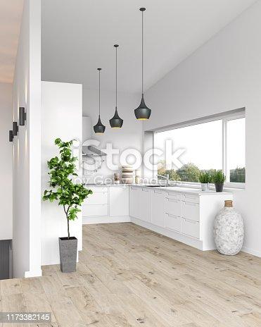 Modern kitchen. Render image.