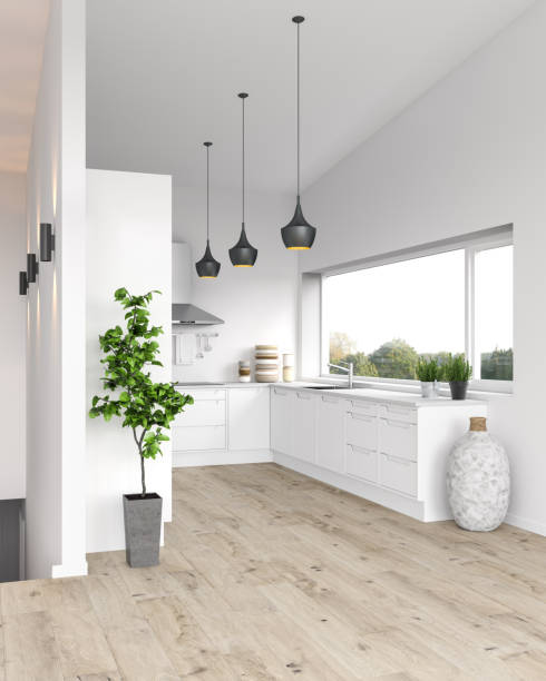 modern kitchen - nelleg stock photos and pictures