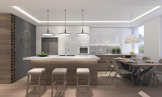 Modern Kitchen Stock Photo - Download Image Now