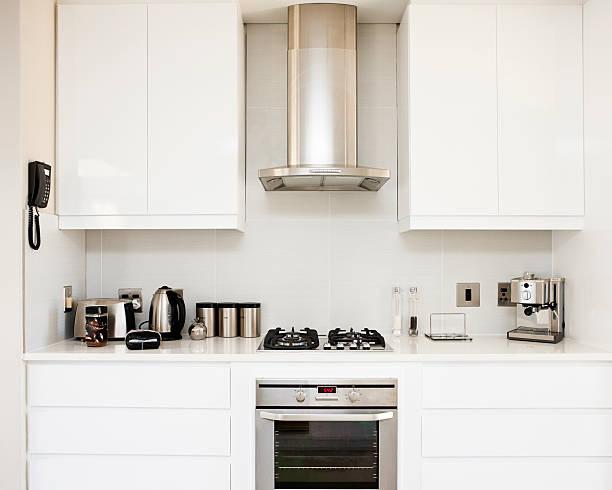 moderne küche - telefonschrank stock-fotos und bilder
