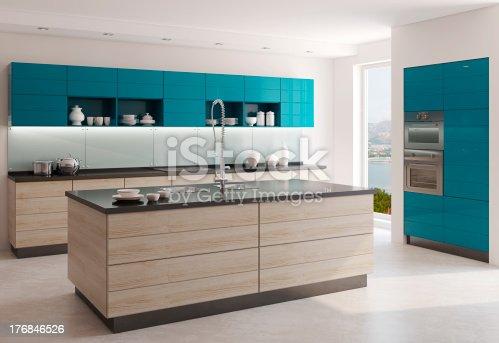 istock Modern kitchen 176846526