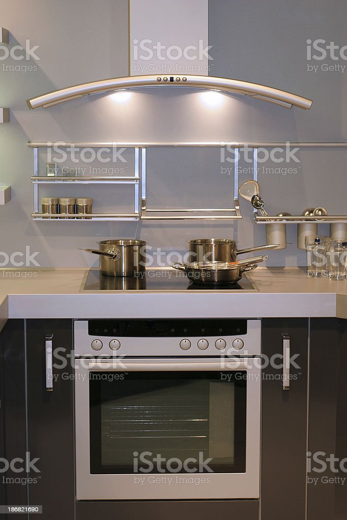 Modern kitchen (oven) stock photo