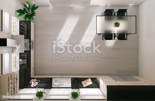 istock Modern Kitchen 849892420