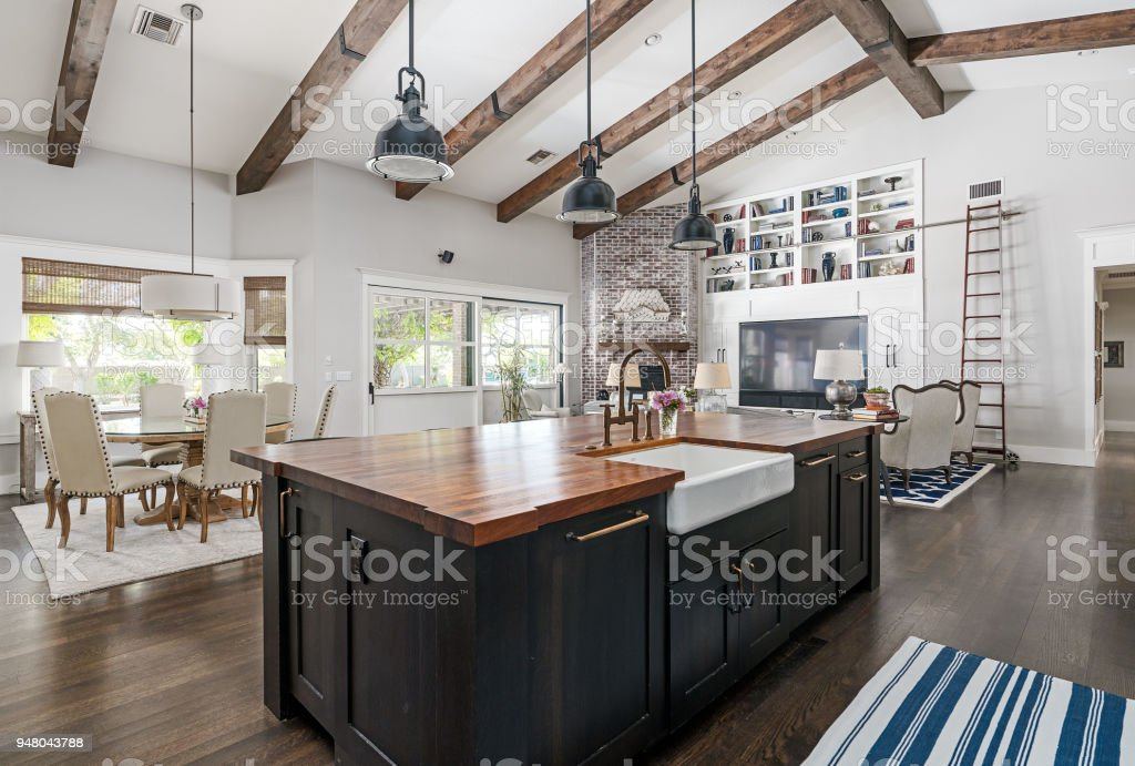 Moderna cocina foto de stock libre de derechos