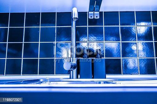 Modern kitchen sink and wall,Modern Kitchen Interior