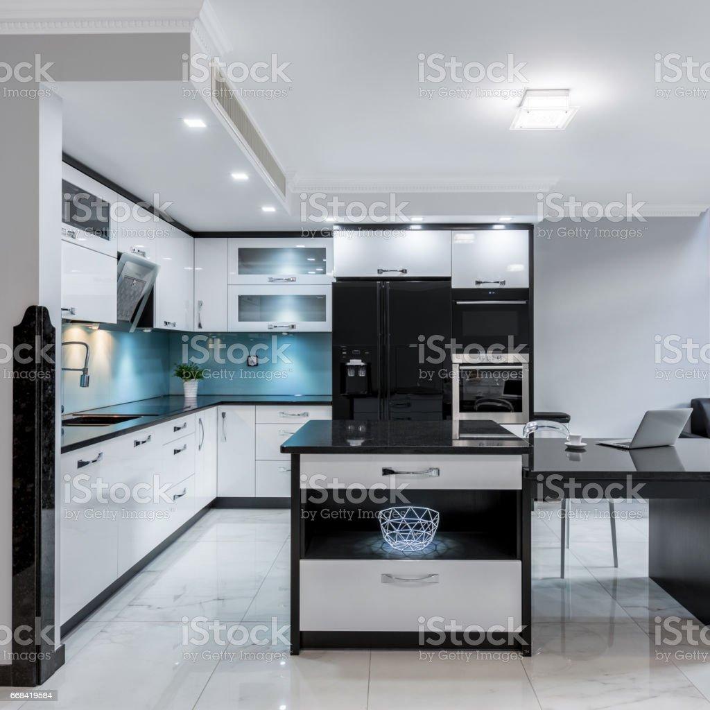 Modern kitchen space stock photo