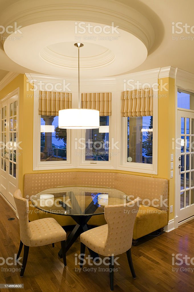 modern kitchen table chairs house stock photo