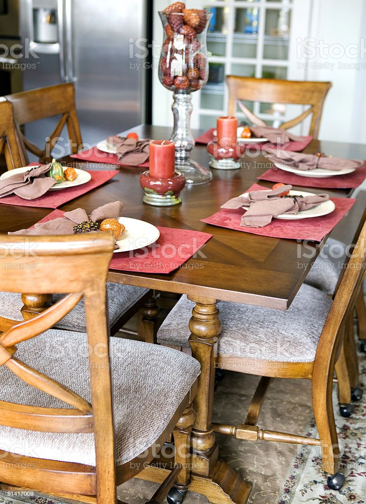 Modern Kitchen Table Suburbia royalty-free stock photo