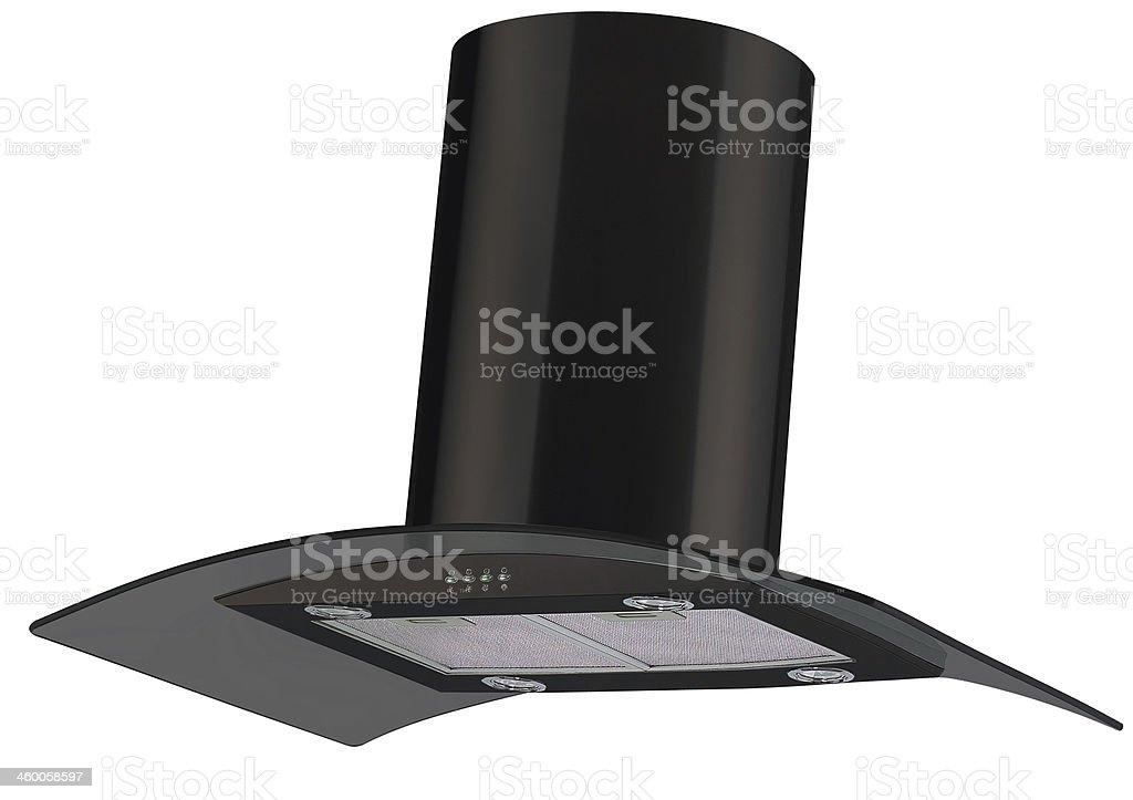 Modern kitchen wall hood - isolated stock photo