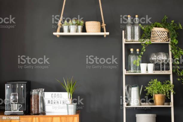 Modern kitchen with black wall picture id691796936?b=1&k=6&m=691796936&s=612x612&h=iho3sgnteqqipoxcwvsxry0pisgaee1fhtd8wvwapho=