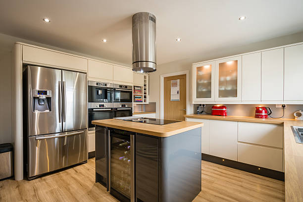 Modern Kitchen with Island stock photo