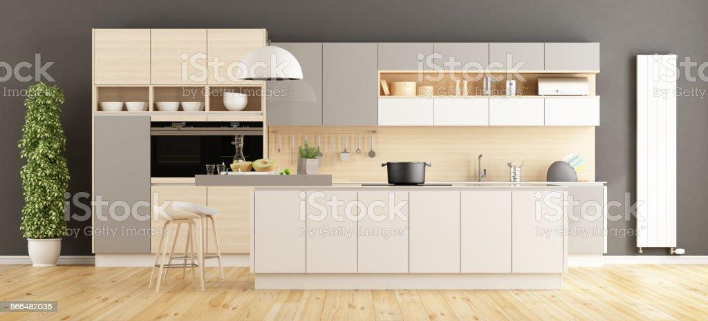 Moderne Küche Mit Insel Stockfoto und mehr Bilder von ...