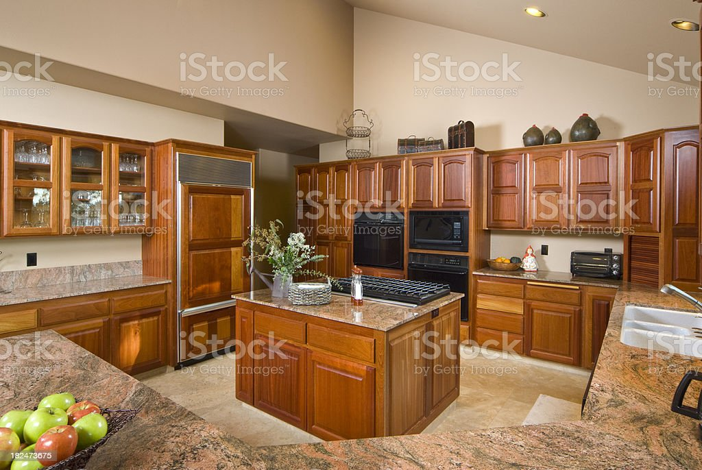 Modern Kitchen With Maple Cabinets Stock Photo Download Image Now Istock