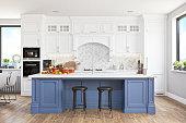 istock Modern Kitchen With Smart Speaker 1314168855