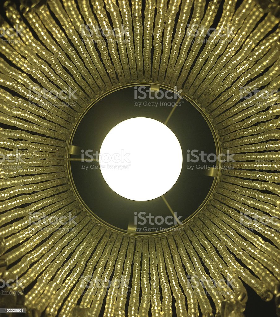 Modern lamp on side table royalty-free stock photo