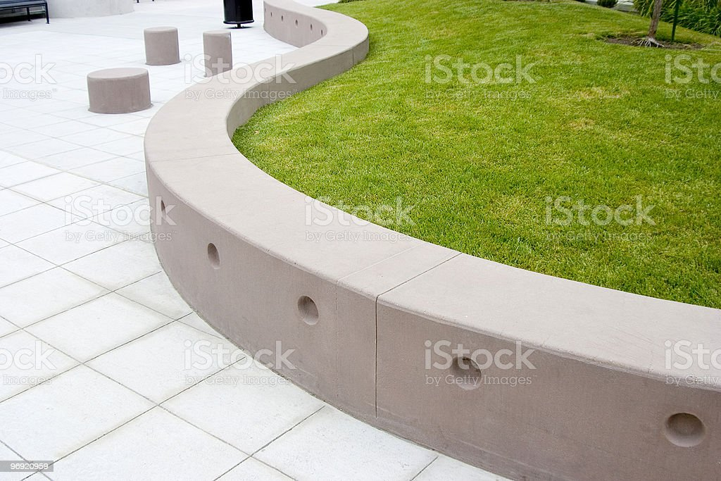 Modern Landscaping royalty-free stock photo