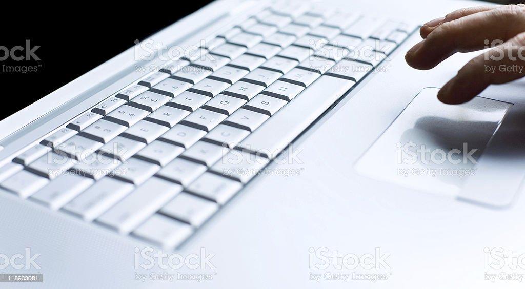 modern laptop close up royalty-free stock photo