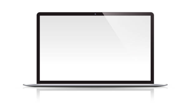 Modern Laptop Isolated stock photo